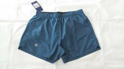 ASICS 3-INCH MENS COOL RUNNING SHORTS SIZE L LARGE - BLUE