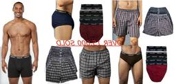 6 Mens Boxer Briefs Underwear Stretch Fashion Trunk Short Bu
