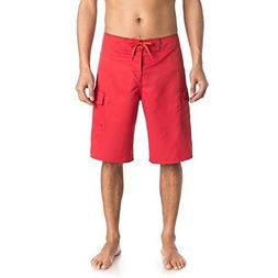 """Quiksilver Mens Manic 22"""" Solid Boardshorts Quik Red Size 32"""