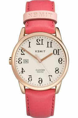 46dcccbaf70f Timex Women s TW2R62500 Easy Reader 38mm Pink Rose Gold-Tone