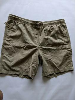 amazon men s drawstring walk short khaki