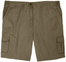 Big & Tall 4U Basics Men's Cargo Shorts Full Blue Expandable