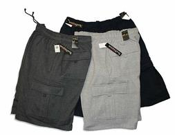 Big & Tall Greystone Fleece Cargo Shorts - HEAVY DUTY Casual