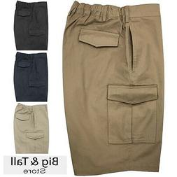Big & Tall Men's Falcon Bay Cargo Shorts Expandable Waistban