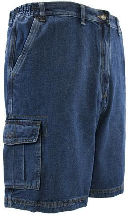 Big & Tall Men's Denim Cargo Shorts by Full Blue Sizes 44 -