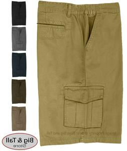 Big & Tall Men's Cargo Shorts by Full Blue - Expandable Wais