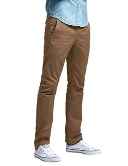 Match Men's City Chino Straight Fit Flat-Front Pants M2