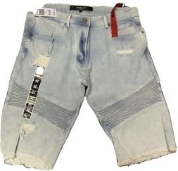 Reason Clothing Men's Denim Faded Ripped Jeans Shorts Size