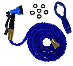 BEST Expandable Garden Hose, 8-Set Spray, Hook, 50 Ft, with
