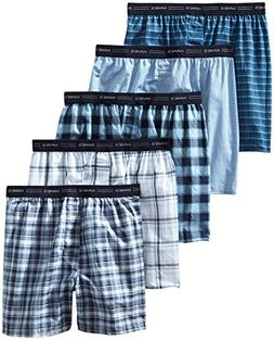 Hanes Men's 5-Pack FreshIQ Tagless, Tartan Boxer with Expose