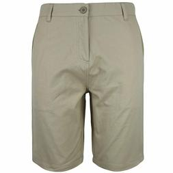 Gary Com 100% Cotton Chino Flat Front Shorts for Men's Surf