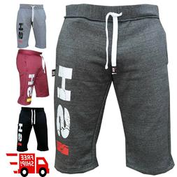 Gym Sweat Casual Fleece Shorts Men's Jogging Joggers MMA B