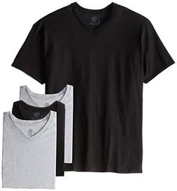 HanesComfort Soft Dyed V-Neck T 4-PACK