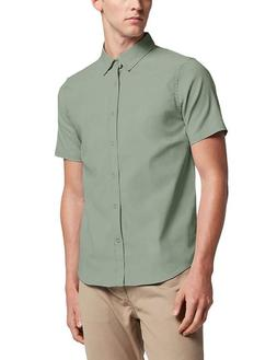Hat And Beyond Mens Short Sleeve Slim Fit Button Down Stretc