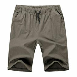 Hat and Beyond Mens Stretch Twill Shorts Summer Active Casua