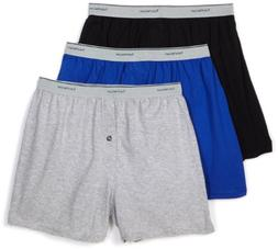 Fruit of the Loom Men's  Knit Boxer With Exposed Waistband -