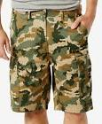 """$125 LEVI'S Men GREEN CAMO FLAT FRONT 9.5""""in LOOSE CASUAL CA"""