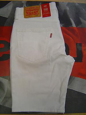LEVI'S 511 MEN'S SLIM FIT LOW RISE ZIP FLY STRETCH SHORTS WH
