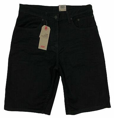 Levi's 569 STRAIGHT DENIM SHORTS BLACK