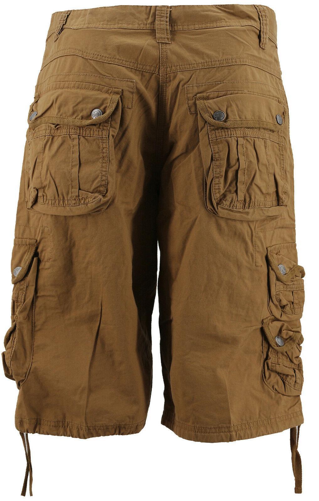 MSLM Men's Army Relaxed Pocket Khaki