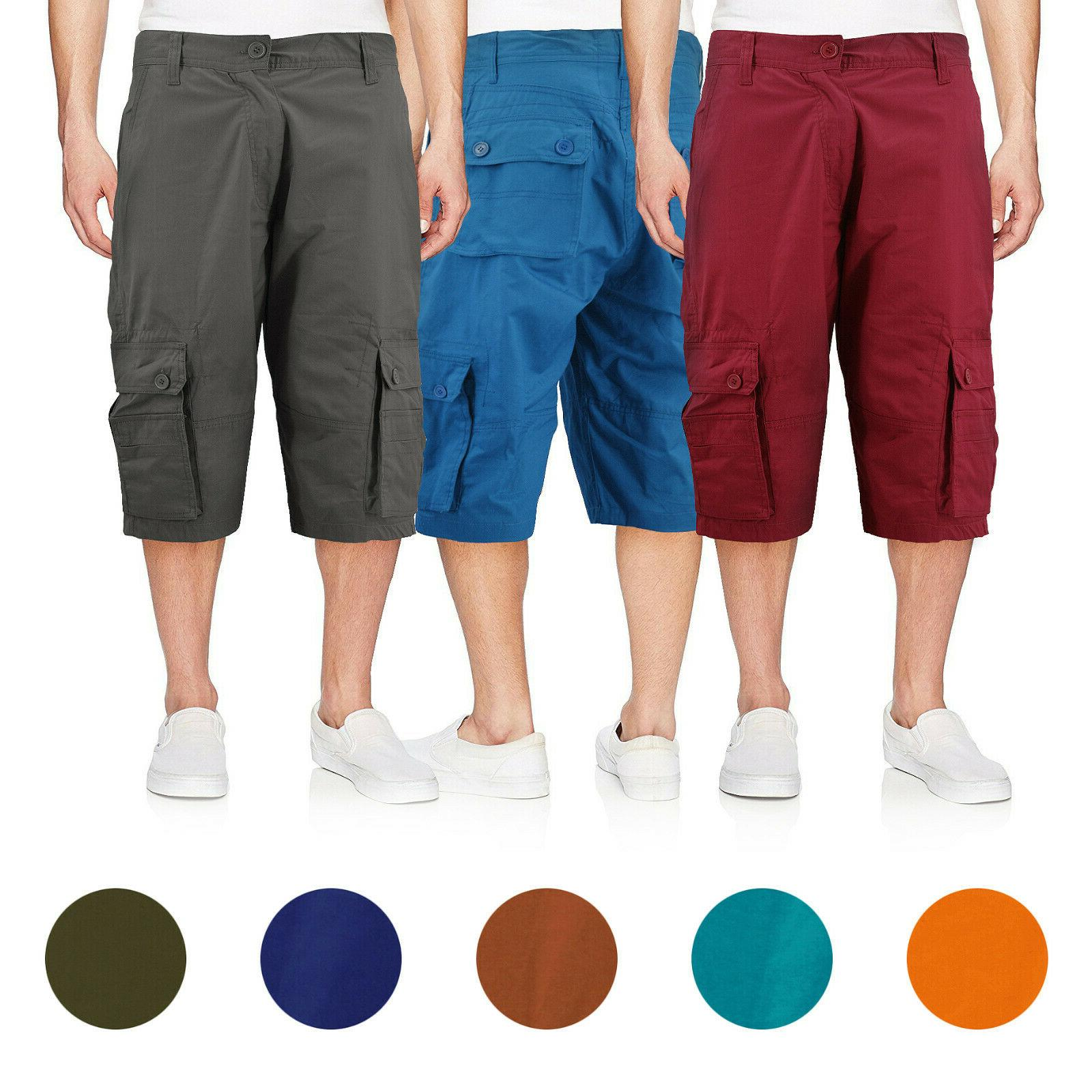 men s cotton cargo shorts relaxed fit