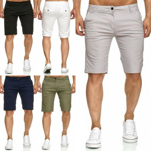 men shorts slim fit stretch flat front