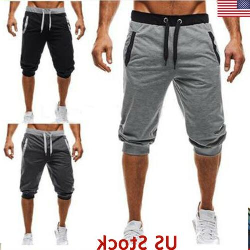 Men Sports Casual Shorts Men Summer Pocket Trousers Pants Gy