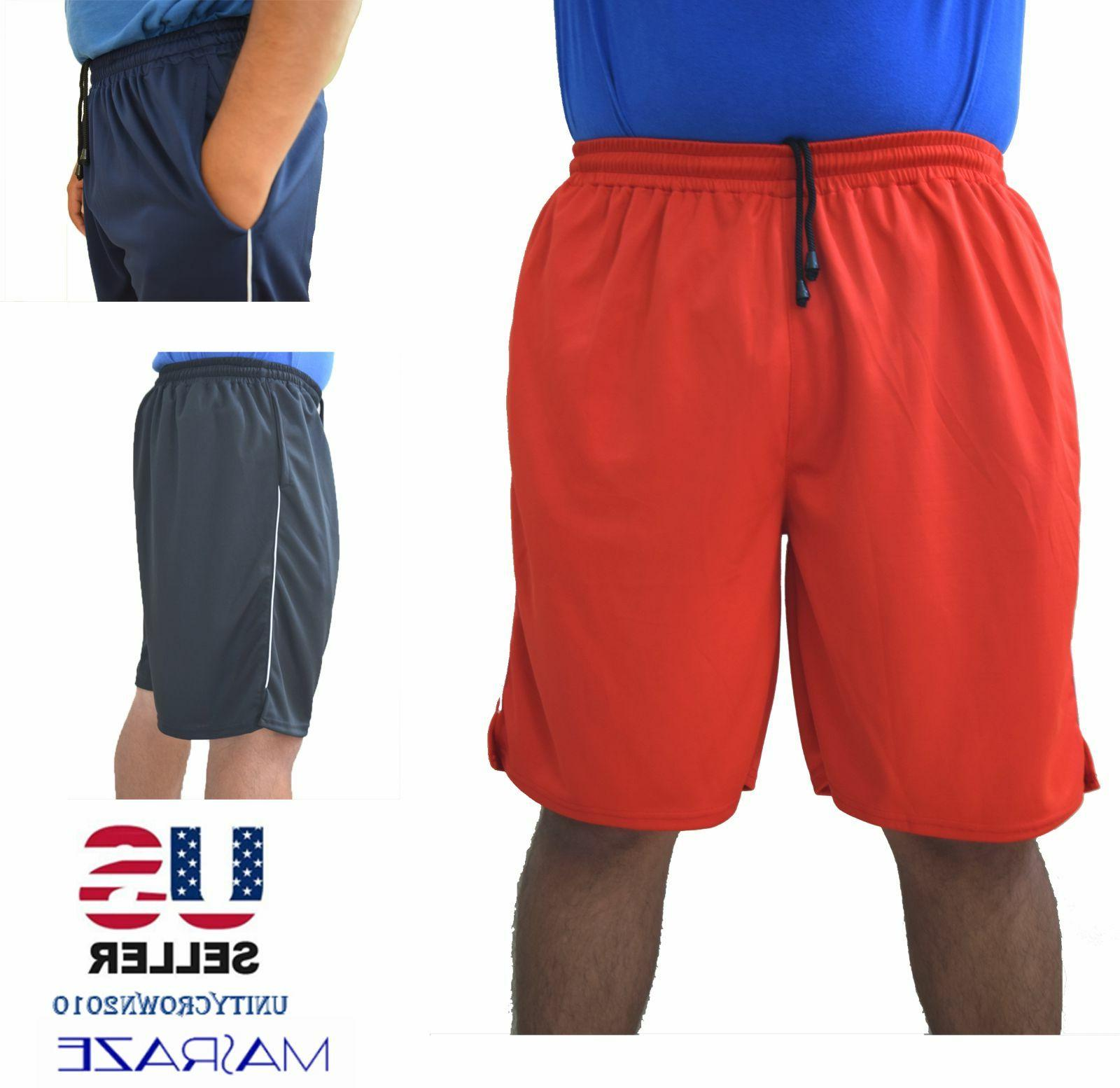 Mens Basketball Gym Workout Athletic with 2 Pockets Dri