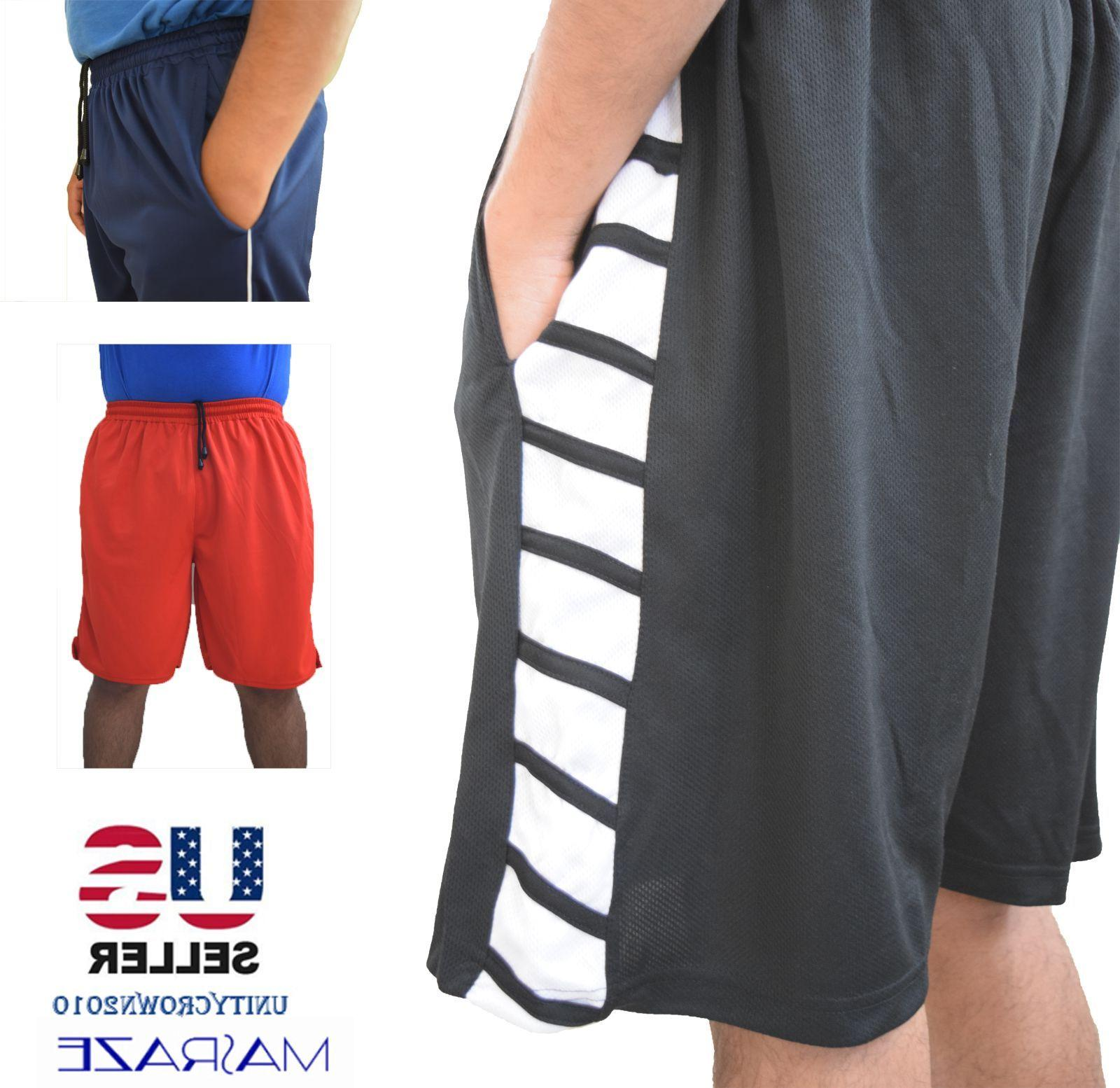 Mens Basketball Gym Workout Athletic Shorts 2 Dri