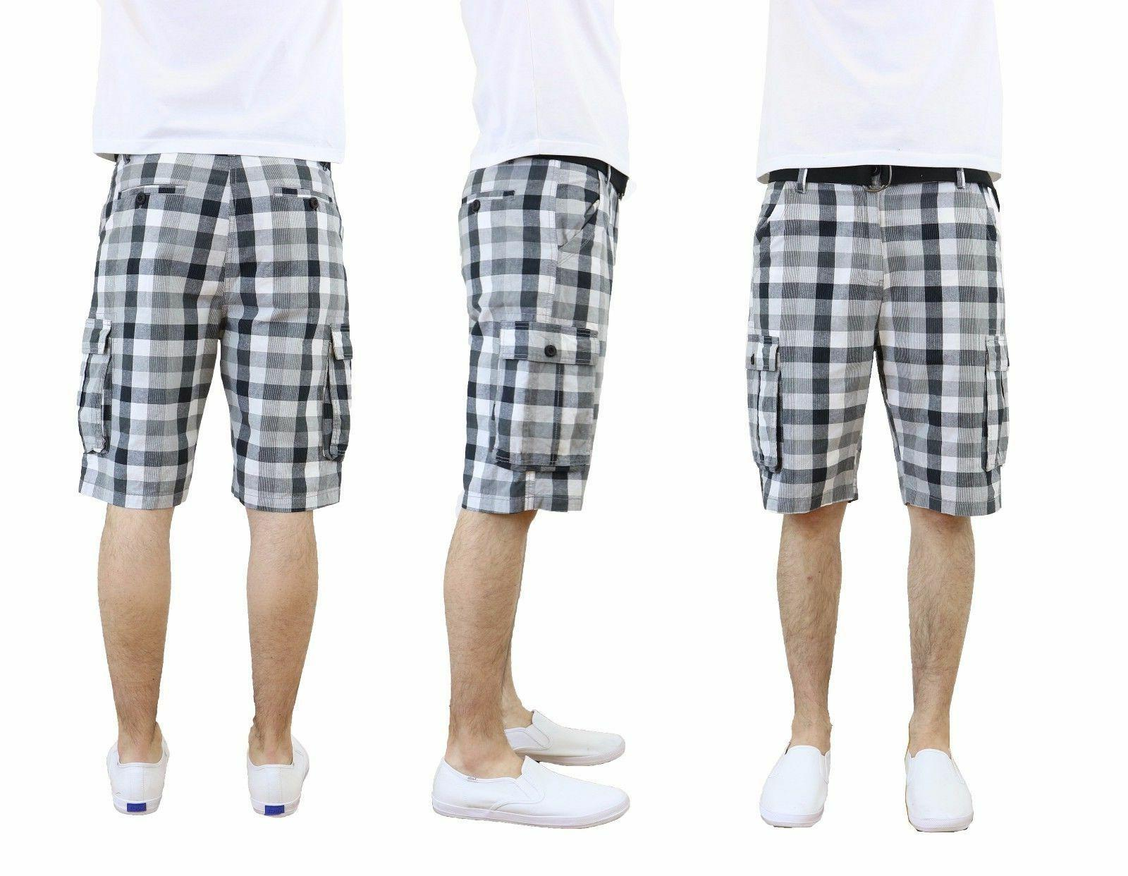 Mens Belted Shorts 100% Cotton