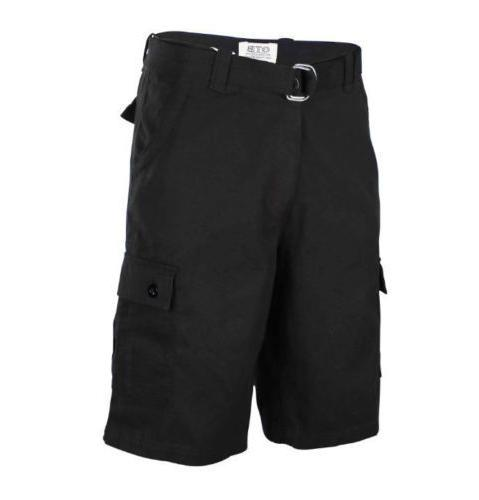 One Tough Brand Mens CLASSIC CARGO SHORTS Belted Cotton 30-4