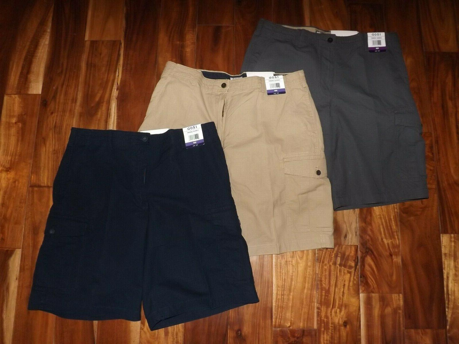 mens ripstop cargo casual flat front shorts