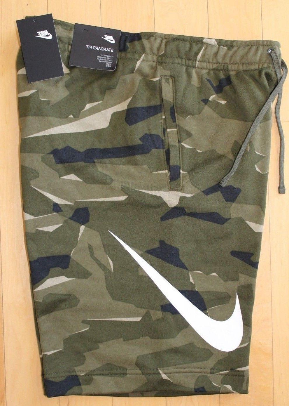 2adbb9964c2 NWT NIKE Men's LOGO Fleece Shorts CAMOUF...