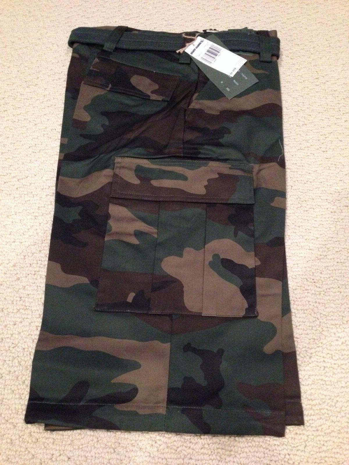 NWT Men's Regal Wear Classic Green Camouflage Camo Belted Ca