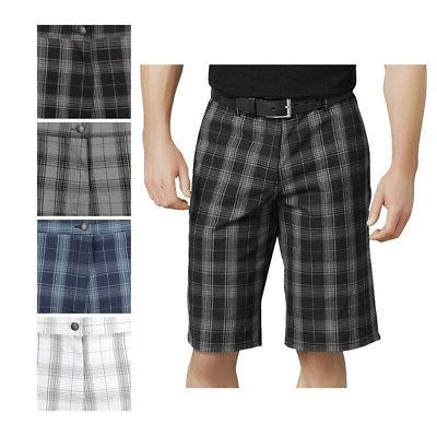 "Dickies Shorts Flex 13"" Men's Flat Front Flex Plaid Relaxed"