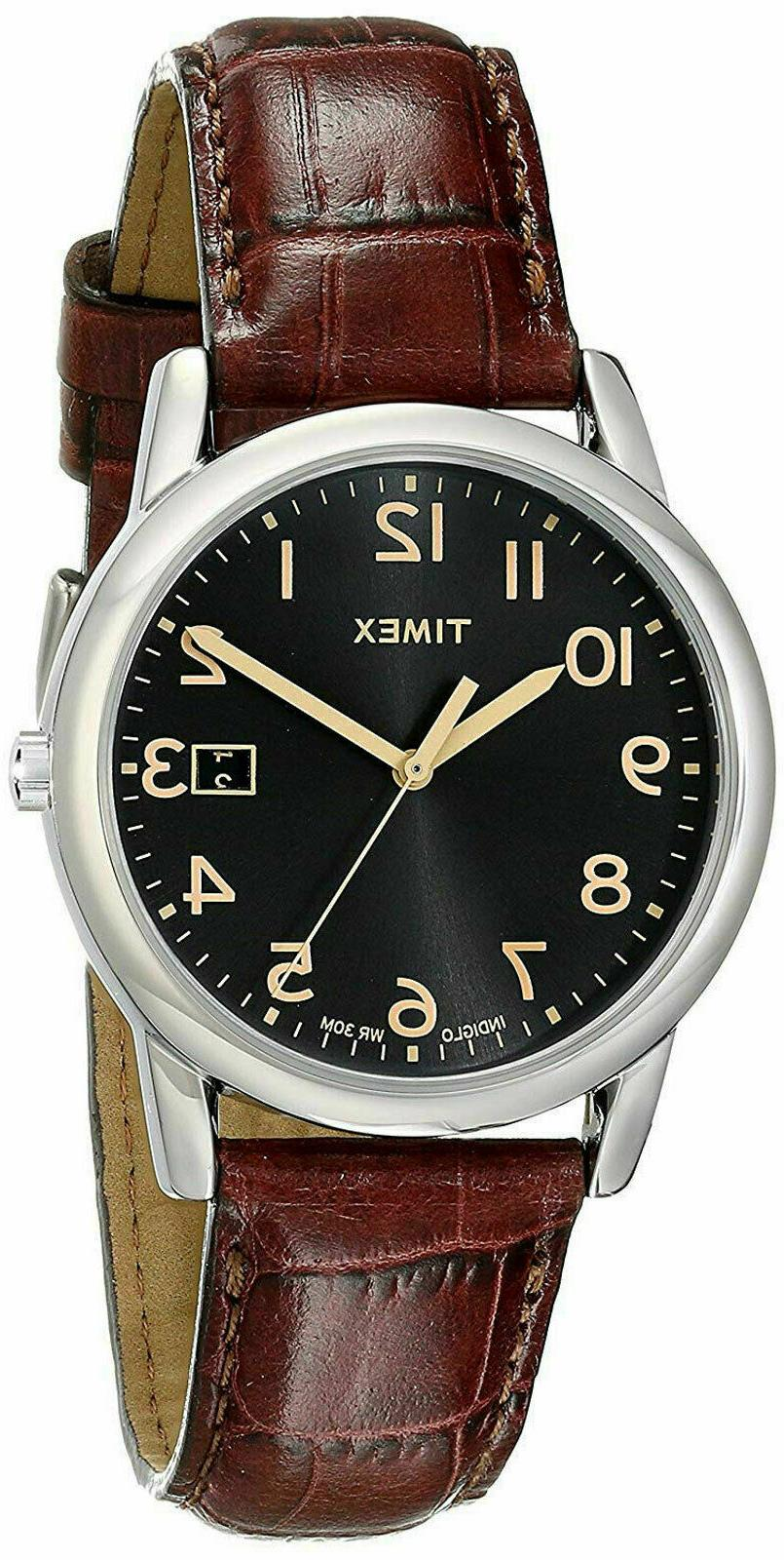 Timex Men's T2N948 Elevated Classics Silver-Tone Watch with