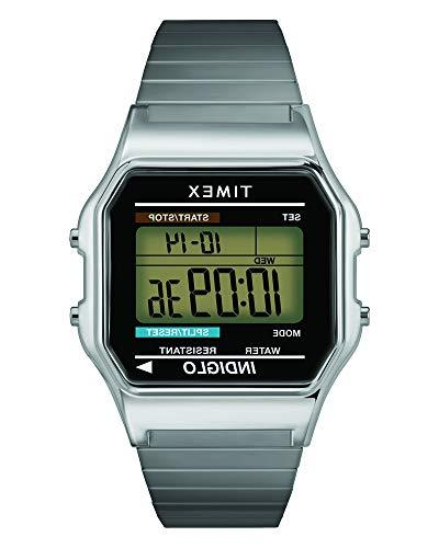 Timex Men's T78587 Classic Digital Silver-Tone Stainless Ste