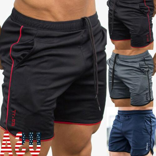US Men's Casual Short Pants Cotton Gym Fitness jogging Runni