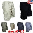 US Men's Summer Army Combat Shorts Sports Work Casual Cargo