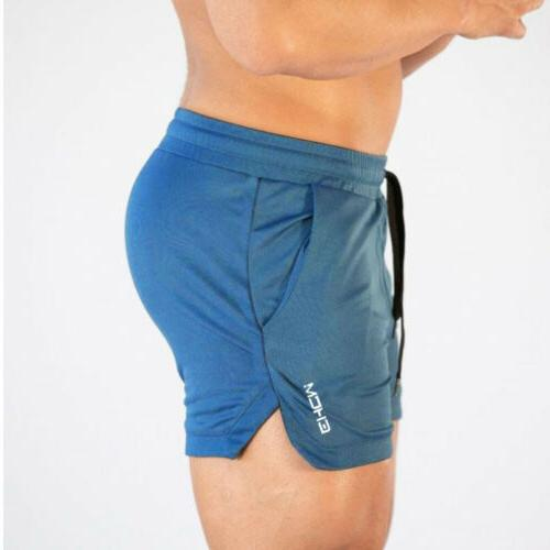 Men's Gym Shorts Workout Sports Casual Fitness Short