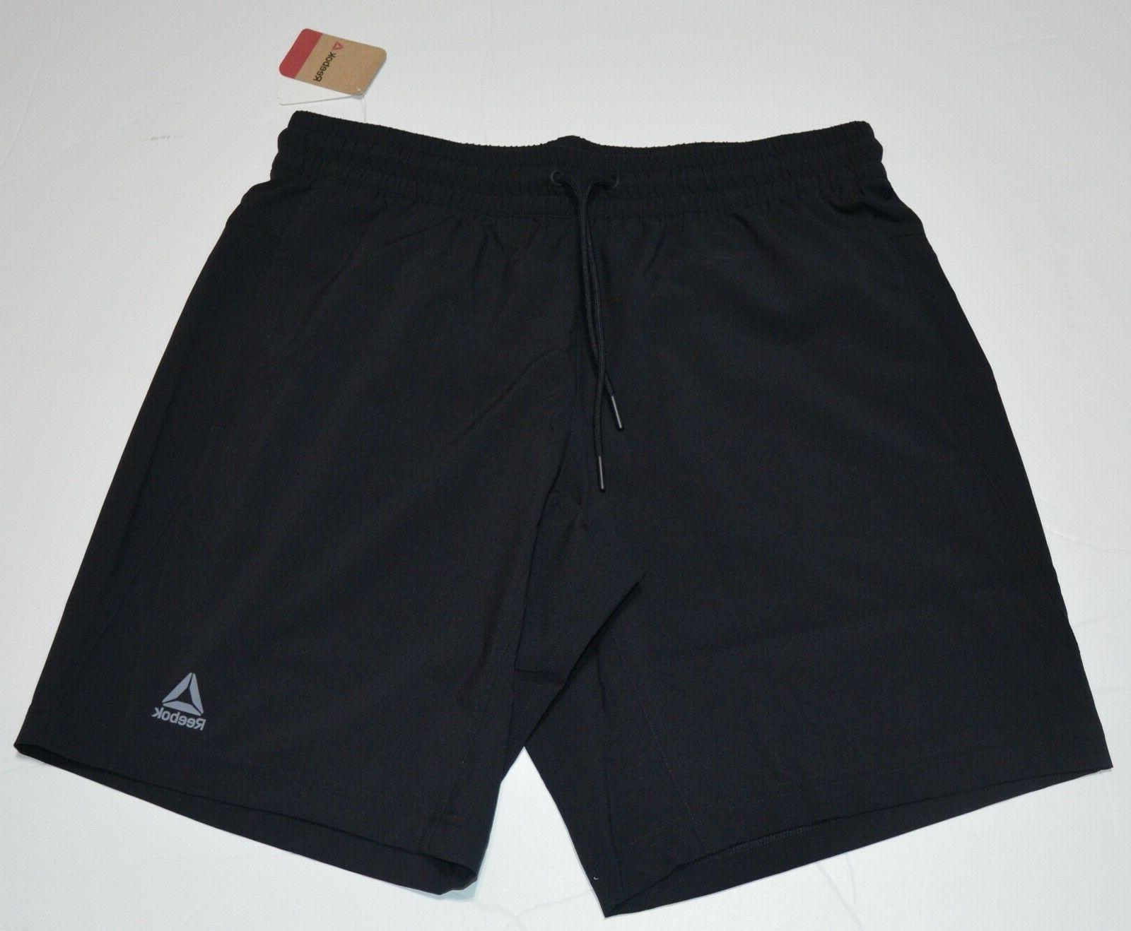 wor woven men s black shorts new