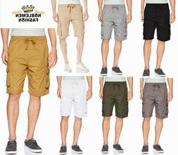 MEN BIG AND TALL SOUTHPOLE FINE TWILL JOGGER W/CARGO SHORTS