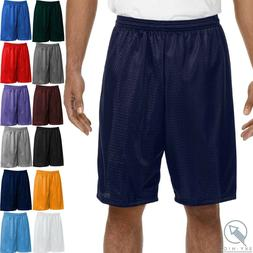 Men Mesh Shorts 2 Pockets workout Jersey pants Soft Basketba
