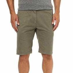 Quiksilver Men's Army Green Straight Fit Chino Shorts