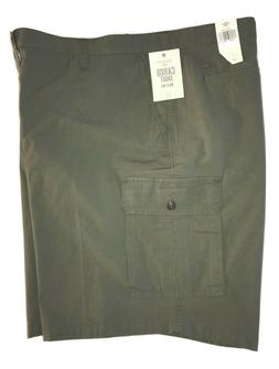 Dockers Men's Big & Tall Army Green Cargo Shorts With Stretc