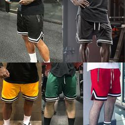Men's Casual Shorts Pants Athletic Breathable Mesh Running B