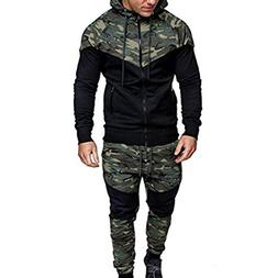 Men's Hoodies, FORUU Camouflage Long Sleeve Print Hooded Swe
