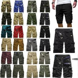 Men's Military Army Cargo Shorts Tactical Work Combat Long P