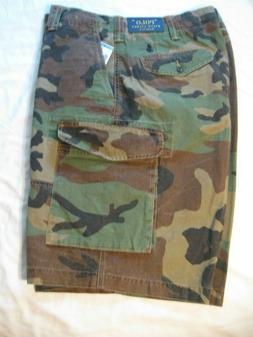 Polo Ralph Lauren Men's Olive Camo Relaxed Fit Cargo Shorts