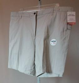 Men's Dockers Perfect Shorts Flat Front Tan 42 New with Tags